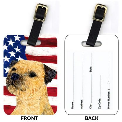 Border Terrier Luggage Tags II (Set of 2)