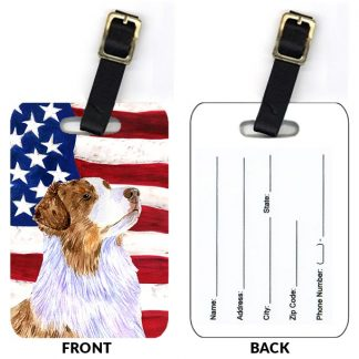 Red Merle Australian Shepherd Luggage Tags II (Set of 2)