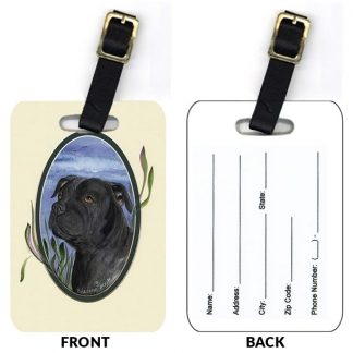 Staffordshire Bull Terrier Luggage Tags II (Set of 2)