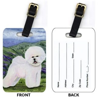 Bichon Frise Luggage Tags III (Set of 2)