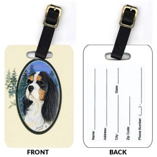 Tri Cavalier Spaniel Luggage Tags III (Set of 2)