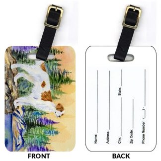 Irish Setter Luggage Tags - Red White (Set of 2)