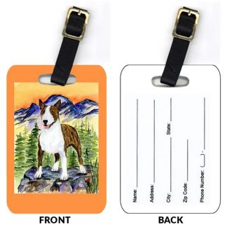 Bull Terrier Luggage Tags III (Set of 2)