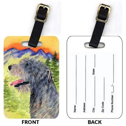 Irish Wolfhound Luggage Tags II (Set of 2)
