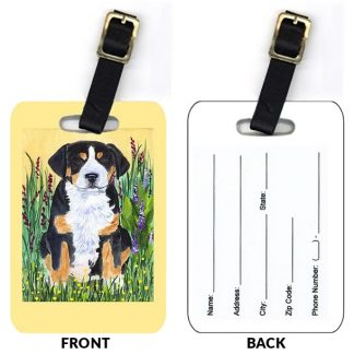 Greater Swiss Mountain Dog Luggage Tags (Set of 2)