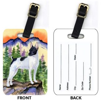 Rat Terrier Luggage Tags (Set of 2)