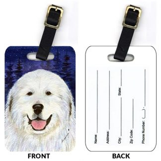 Great Pyrenees Luggage Tags (Set of 2)