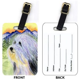 Bearded Collie Luggage Tags II (Set of 2)
