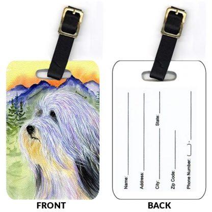 Bearded Collie Luggage Tags II (Set of 2)