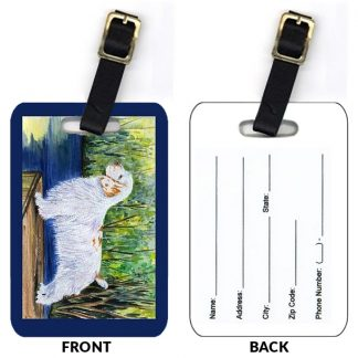 Clumber Spaniel Luggage Tags II (Set of 2)