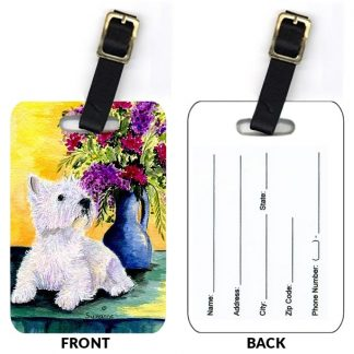 West Highland Terrier Luggage Tags III (Set of 2)
