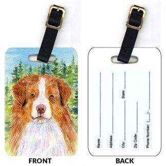 Red Merle Australian Shepherd Luggage Tags (Set of 2)