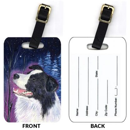 Border Collie Luggage Tags II (Set of 2)
