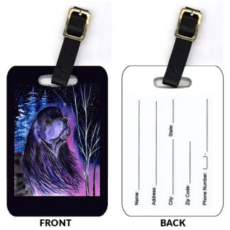 Black Cocker Spaniel Luggage Tags (Set of 2)