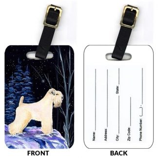 Soft Coated Wheaten Luggage Tags III (Set of 2)
