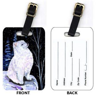 American Eskimo Luggage Tags II (Set of 2)
