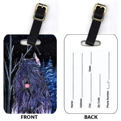 Briard Luggage Tags II (Set of 2)
