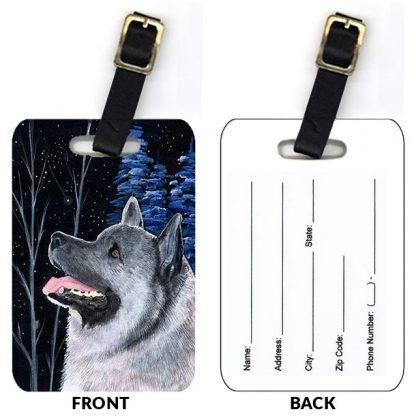 Norwegian Elkhound Luggage Tags II (Set of 2)