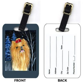 Yorkshire Terrier Luggage Tags III (Set of 2)