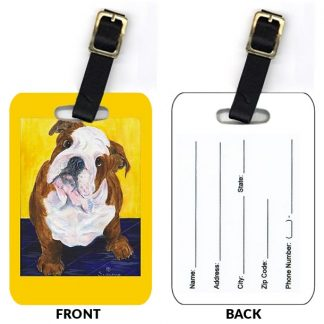 Bulldog Luggage Tags IV (Set of 2)