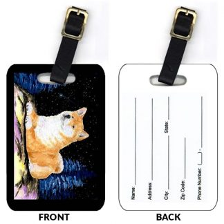 Shiba Inu Luggage Tags III (Set of 2)