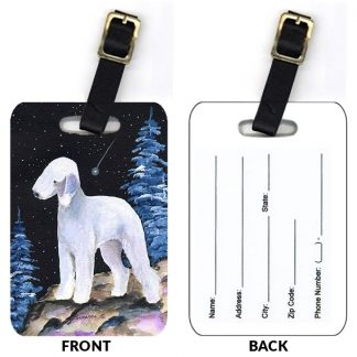 Bedlington Terrier Luggage Tags III (Set of 2)