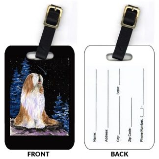 Bearded Collie Luggage Tags III (Set of 2)