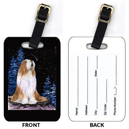 Bearded Collie Luggage Tags III (Set of 2)