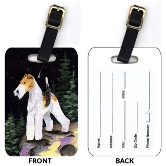 Wire Fox Terrier Luggage Tags (Set of 2)