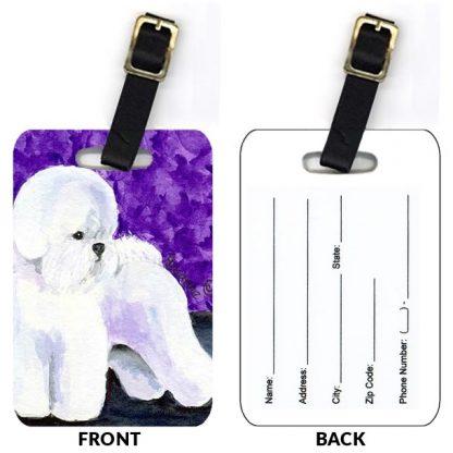 Bichon Frise Luggage Tags IV (Set of 2)