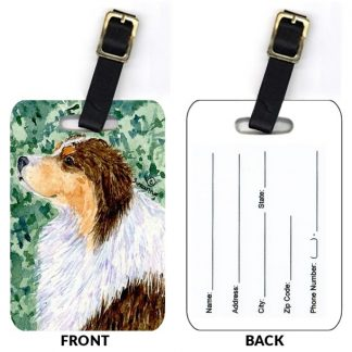 Red Tri Australian Shepherd Luggage Tags (Set of 2)