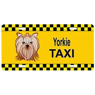 Yorkshire Terrier License Plate - Taxi