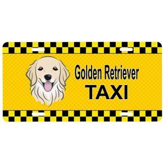 Golden Retriever License Plate - Taxi