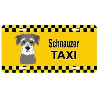 Schnauzer License Plate - Taxi