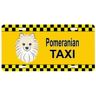 Pomeranian License Plate - Taxi