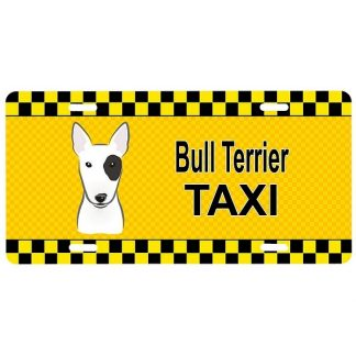 Bull Terrier License Plate - Taxi