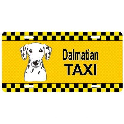 Dalmatian License Plate - Taxi
