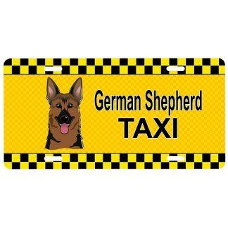 German Shepherd License Plate - Taxi