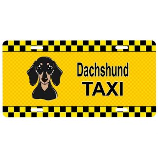 Dachshund License Plate - Taxi (Black Tan)