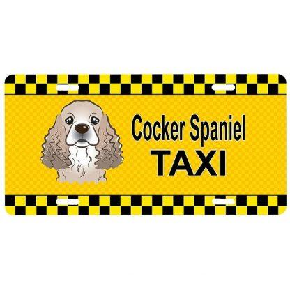 Cocker Spaniel License Plate - Taxi
