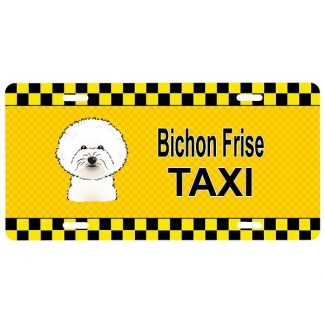 Bichon Frise License Plate - Taxi