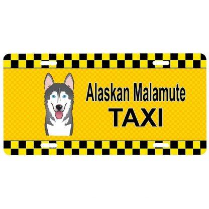 Alaskan Malamute License Plate - Taxi
