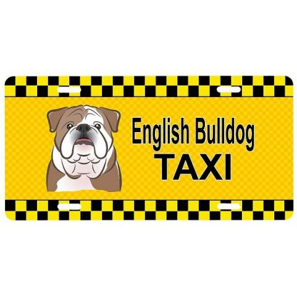Bulldog License Plate - Taxi