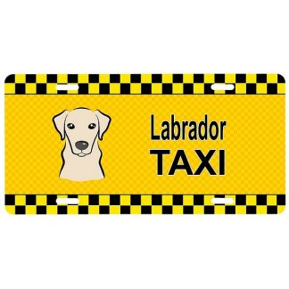 Yellow Lab License Plate - Taxi