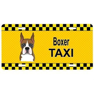 Boxer License Plate - Taxi