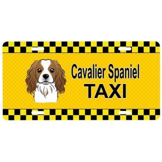 Cavalier Spaniel License Plate - Taxi