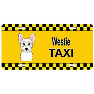 West Highland Terrier License Plate - Taxi