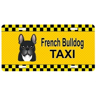 French Bulldog License Plate - Taxi