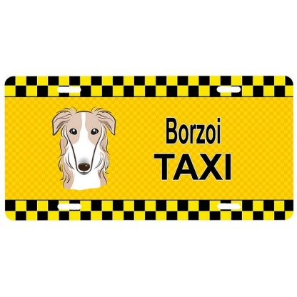 Borzoi License Plate - Taxi