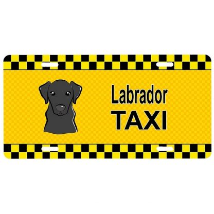 Black Lab License Plate - Taxi